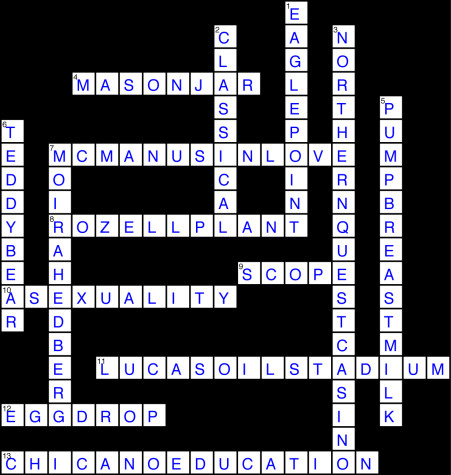 Issue 15 Crossword Solution