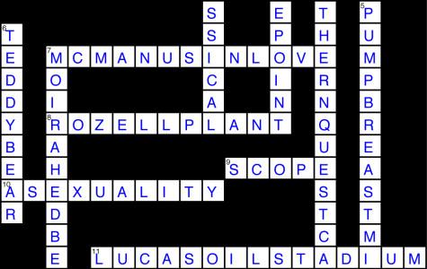 Issue 18 Crossword Solution