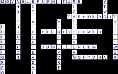 Issue 16 Crossword Solution