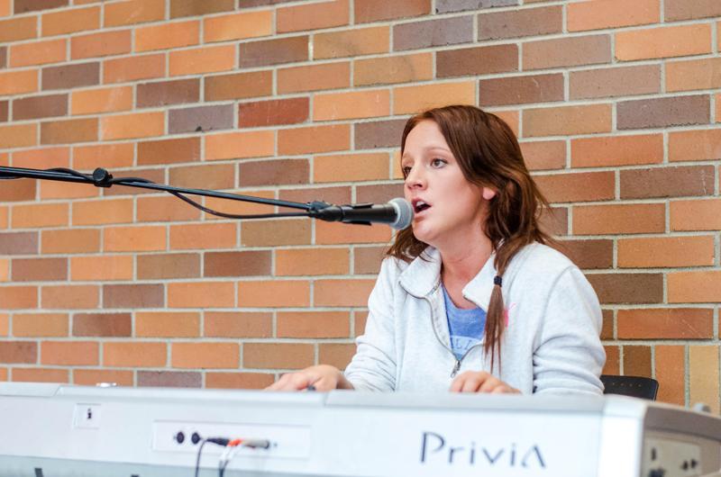 Katy McAllister sings her hit,
