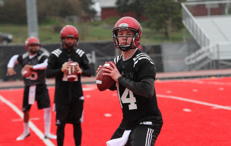 Football back in action at spring practice