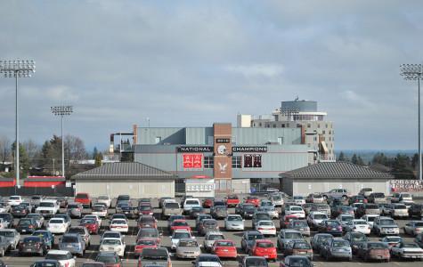 New parking construction expands lot 12