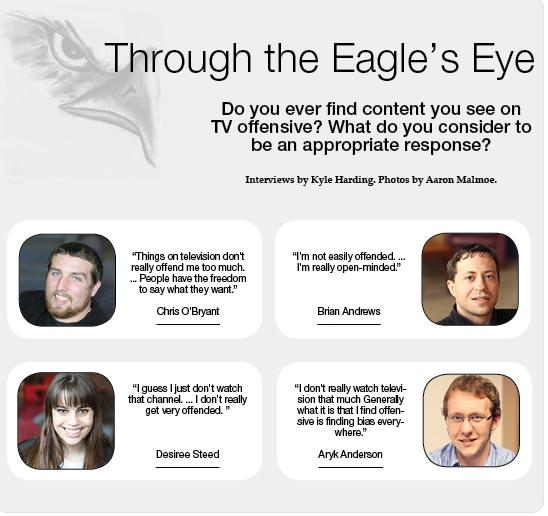 Through the Eagle's Eye: Are you ever offended by TV shows?