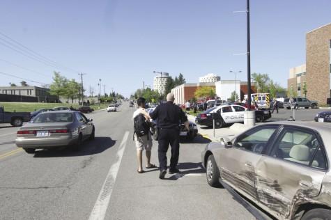 Five-car accident rocks EWU campus