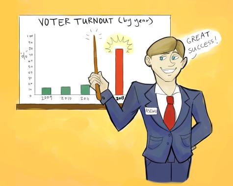Editorial cartoon: voter turnout