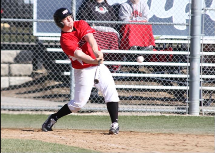 Photo by Aaron Malmoe Logan Goulet bats during a game against Seattle. EWU baseball continues as a club after being dropped as a sport.