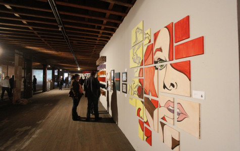 Art from many young local artists fill Spokane's Music City Building at the 6th Annual Terrain Show.