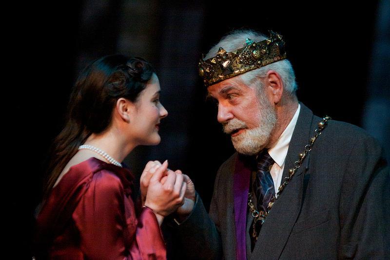 Nichole Meyer and Gene Engene perform a scene during EWU's production of Macbeth. Photo by Sam Sargeant