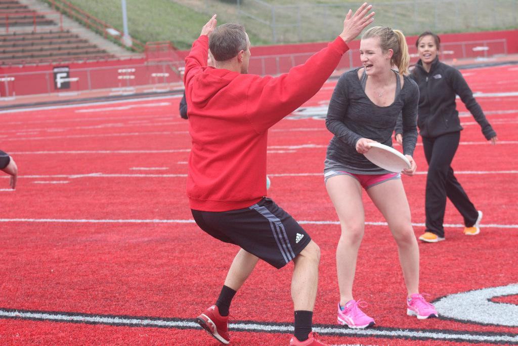 EWU students train for the May 4 Bloomsday race.