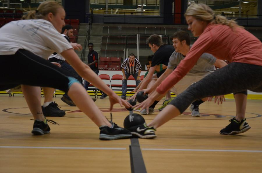 On May 8, 2014, EWU students competed in a dodgeball tournament to celebrate the URC's sixth birthday. Photo courtesy of the URC