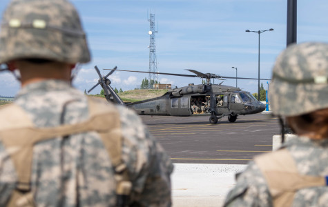 ROTC executes field training complete with Black Hawk lift off