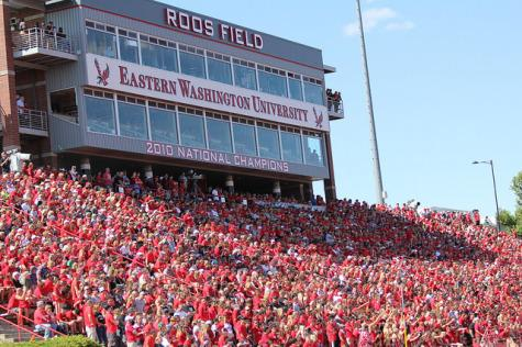 A sold-out crowd of about 8,600 fans at Roos Field took over the stands at the Inferno for the opening ESPN game on August 23.