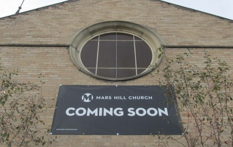 Mars Hill markets their potential location on Division Street.