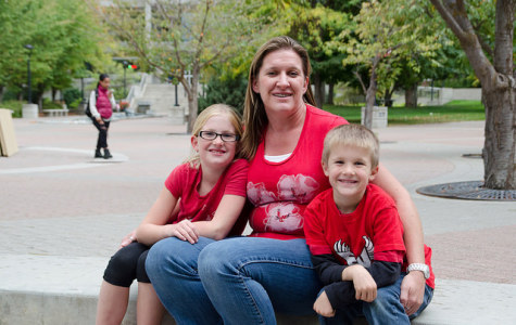 EWU student Teresa Messenger and her two children.