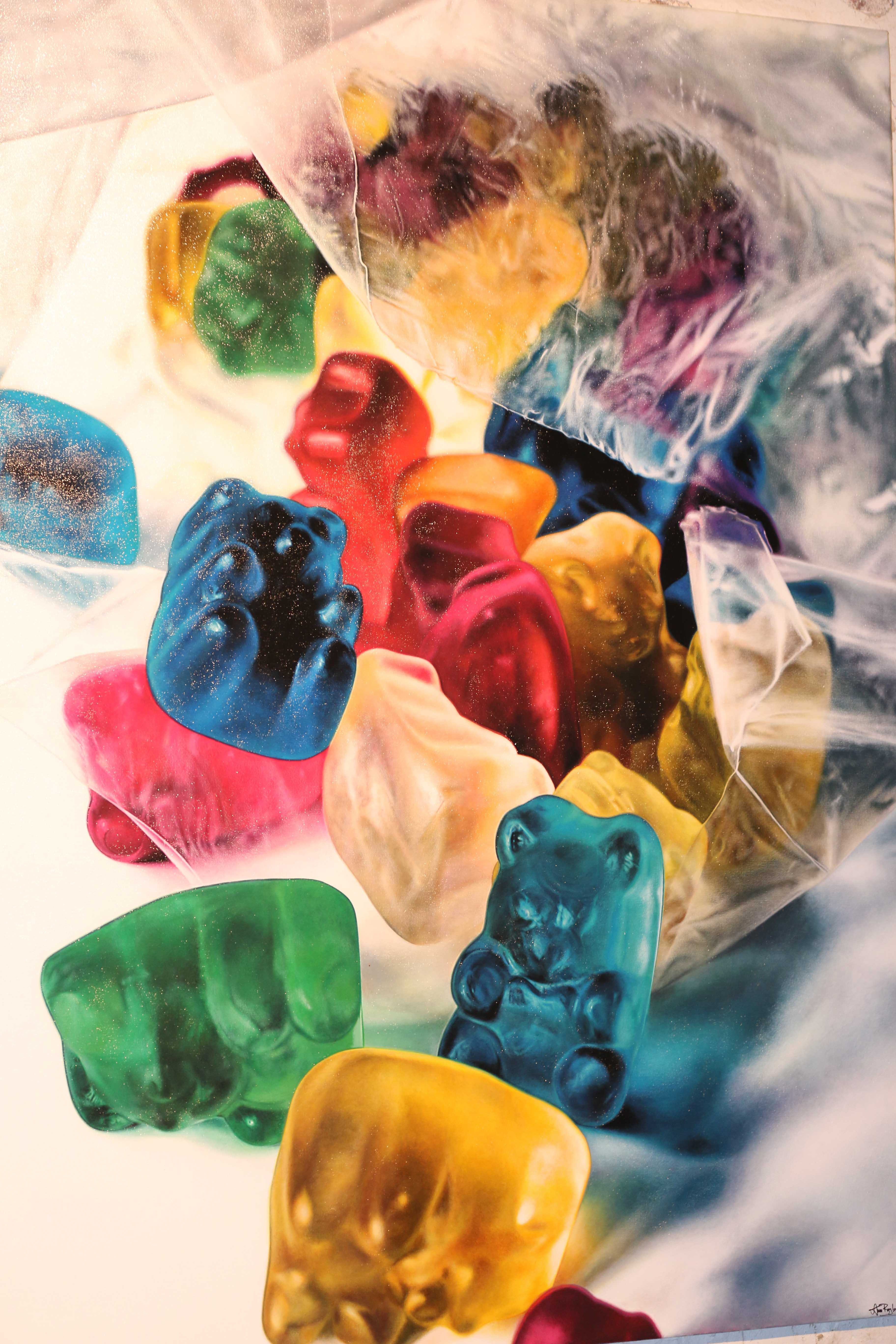 Gummy bear photograph is one of the many art pieces at Terrain.