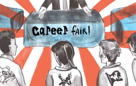 Local university partners promote career fair