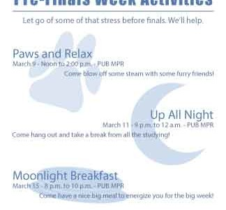 SAIL offers pancakes, puppy love during finals week