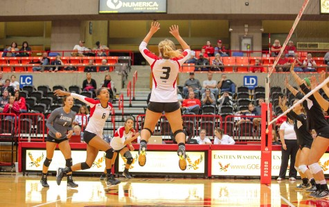 Eagles volleyball soars to 4-0 record in conference