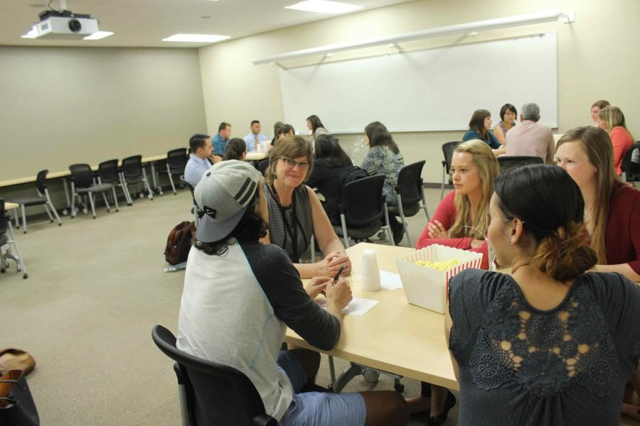 PRSSA speed daters get professional advice.