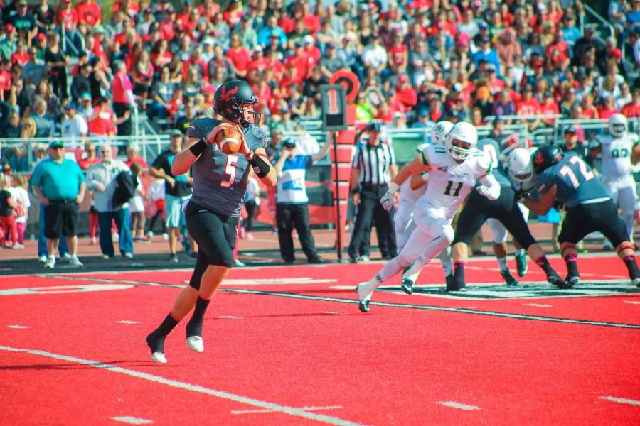 Jordan West prepares for a pass during the game on Oct. 10.