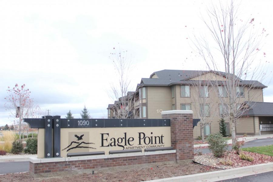 Front entrance of Eagle Point Apartment Community