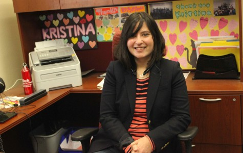 Kristina Guilfoyle sitting in her office.