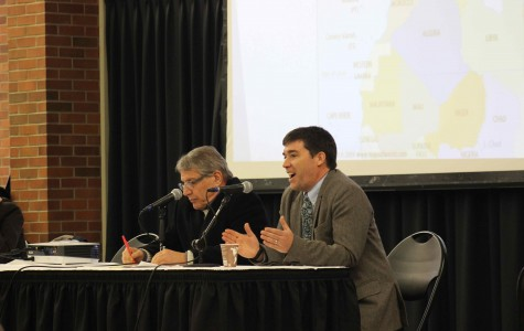 Majid Sharifi (left) and Kevin Pirch (right) speak at Apres Paris panel.