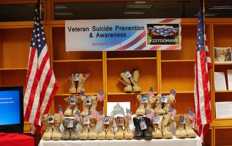 Suicide Prevention and Awareness week brings 22 boot display to Eastern for the month of January