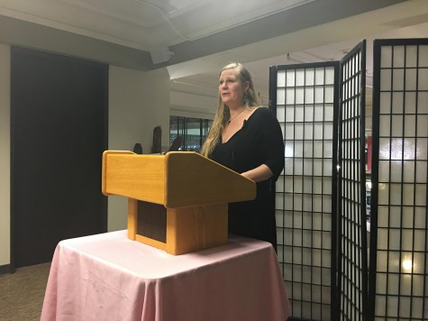 Visiting author brings crowd to tears at Auntie's