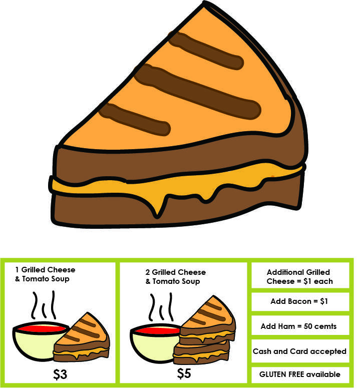 Support Girls on the Run with the purchase of grilled cheese