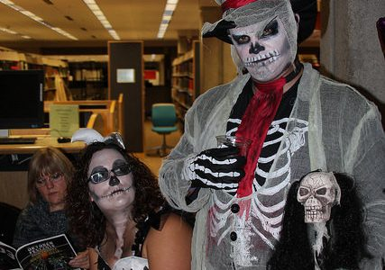 Haunted Halls transforms the library during the Oktoberfest fundraiser
