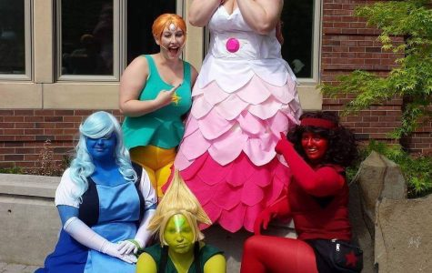 Wirkkala (in the front center) dresses up as characters from Steven Universe. Courtesy of Mary Wirkkala.