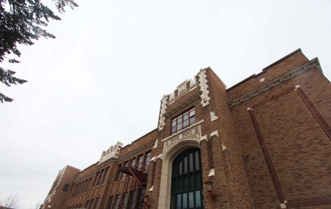 The south face of the building. Old Cheney High School is currently in the process of being converted into student housing.