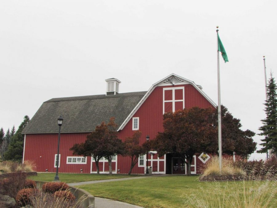 The Red Barn, located on Washington Street, is home to the EWU Police Department. The university is being sued because of the police department's alleged discrimination toward former officer Maria Fell.