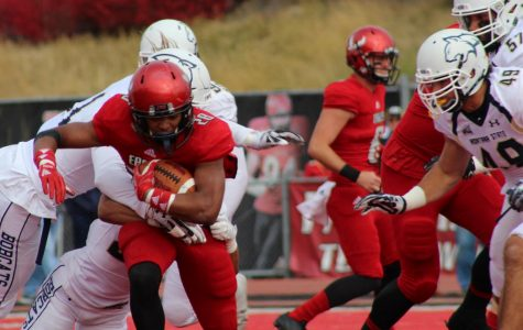 Sophomore running back Antoine Custer Jr. had a career-high 147 rushing yards and two touchdowns. The Eagles have won 12 straight Big Sky games dating back to 2016. Mckenzie Ford for The Easterner.
