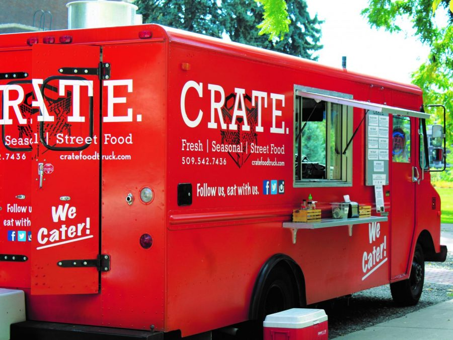 CRATE's food truck, where students can enjoy fresh, seasonal street food. Eric Johnsen built the food truck in August of 2016   Mckenzie Ford for The Easterner