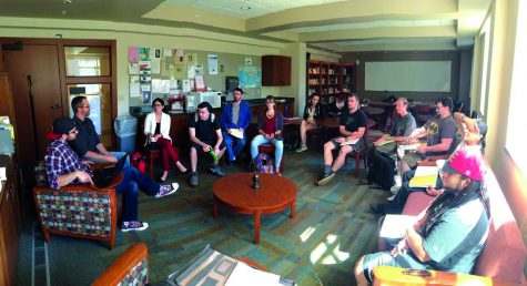The philosophy club gathers last October for its weekly philosophical debates. The club has been here on campus since 2008   Photo courtesy of the Philosophy Club website