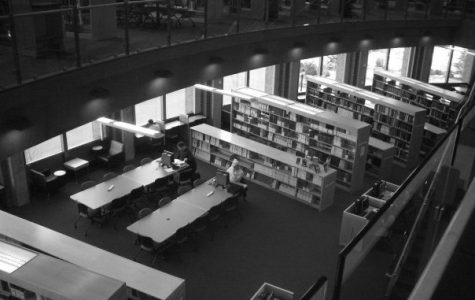 Students study at the Spokane Academic Library. EWU students can use this space any time of the day or night they would like | Photo courtesy of Spokane Academic Library Facebook page