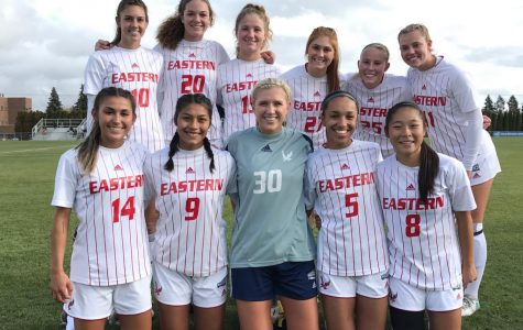 EWU women's soccer won 2-1 on Friday to advance to the conference championship game. They will play Northern Colorado for the title on Sunday. Photo courtesy of EWU Soccer.