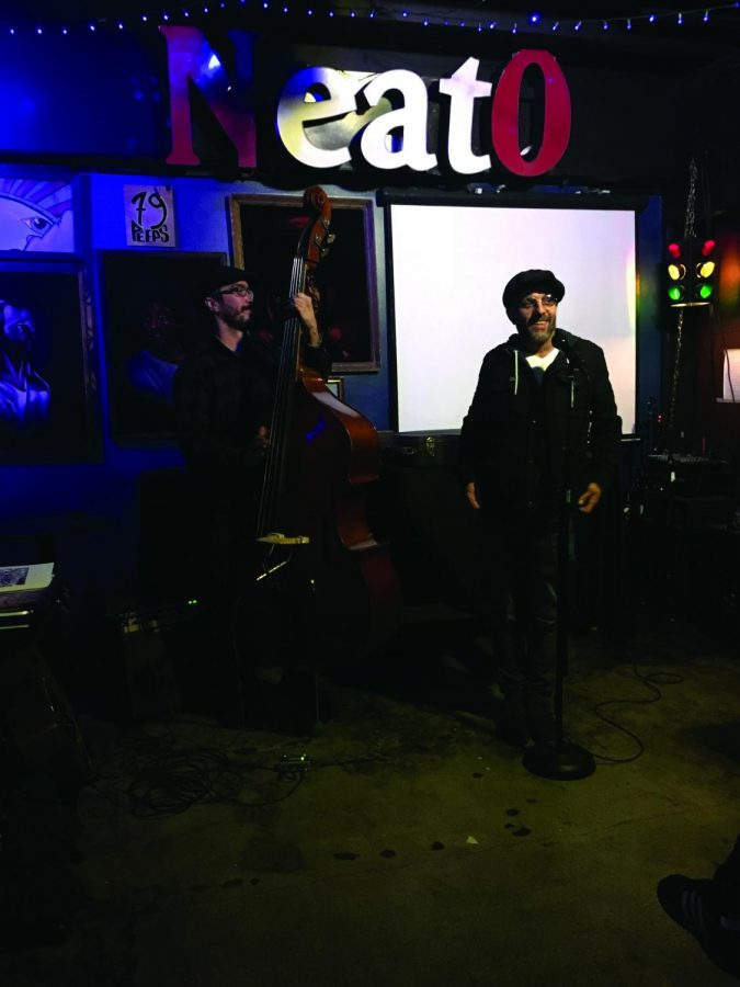 Wil Gibson and Hallowed Down performing for their first time at the Neato Burrito. Gibson has been writing for as long as he can remember but became serious about it in the 90's   Dayana Morales for The Easterner