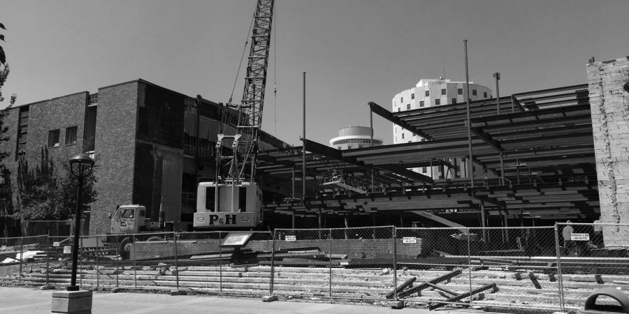 Construction on the PUB opening fall of 2018. EWU is seeking suggestions and student involvement | Sarah Giomi for The Easterner