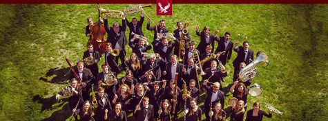 EWU Jazz band poses for a group photo. The band will be performing at the Dialogue Festival   Courtesy of EWU Music