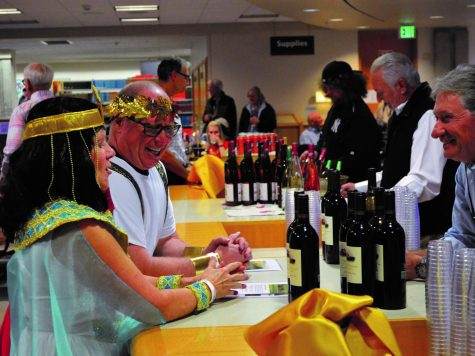 Antony and Cleopatra partake in the beverages offered at JFK's Library's annual Oktoberfest. Oktoberfest has been an annual fundraising event for the JFK Library for many years   Bailey Monteith for The Easterner