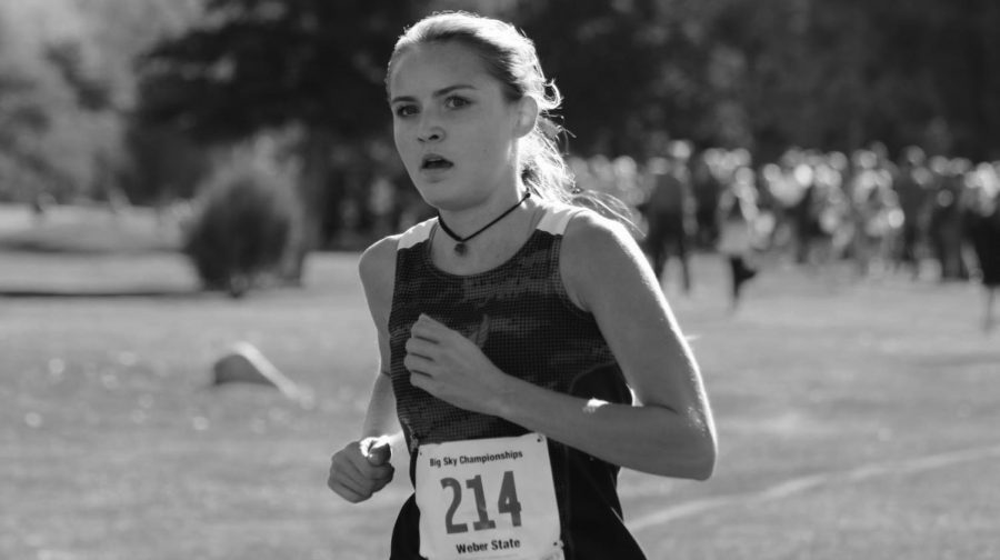 Sophomore Kaili Keefe at the Big Sky Championships. Keefe placed 58th at the NCAA West Regionals | Photo courtesy of EWU Athletics