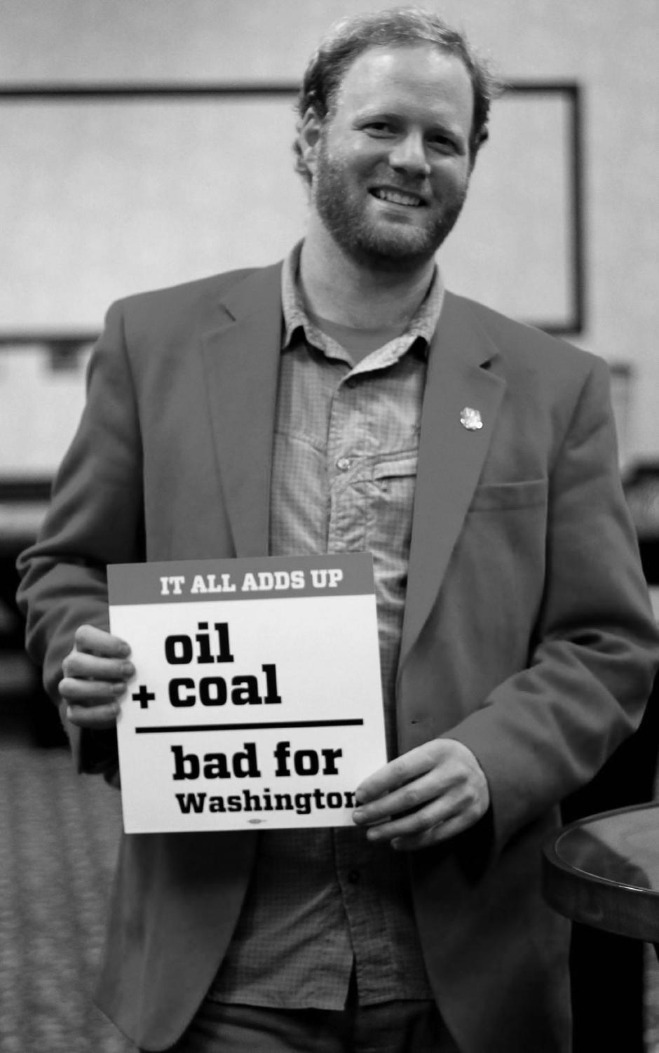 Jace Bylenga has been hired as EWU's Activist in Residence. Before working for EWU, Bylenga worked to stop the use of oil trains in the state of Washington | Photo courtesy of Sherri Urann