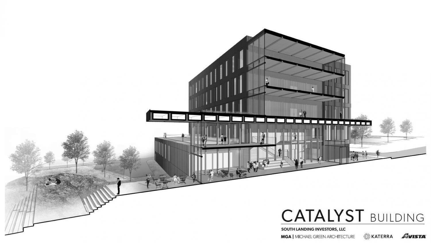 EWU announced plans to expand their Spokane campus for the growing field of STEM students | Rendering courtesy of Michael Green Architecture