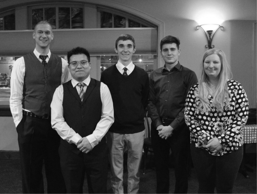 Five of the six students who attended the Rising Stars Conference (from left): Iziah Nixon, James Ruiz, Arthur Lane and Erik Ratchford (junior and freshman from Gonzaga), and Jordan Holubasch | Colleen Ford for The Easterner