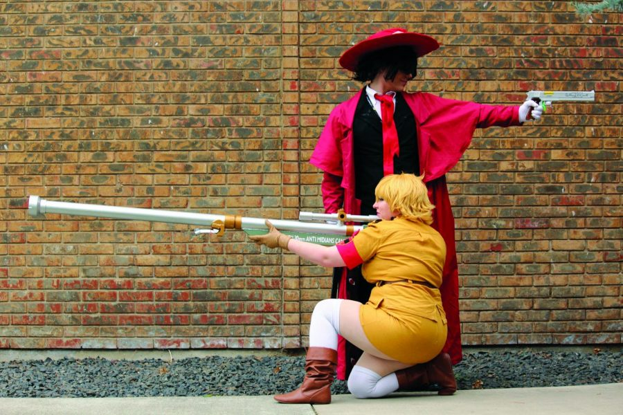 Couple Zack McNaughton and Amelia Burke dressed up as Alucard and Sera from Hellsing. The two have been cosplaying together since 2013 | Erica Halbert for The Easterner