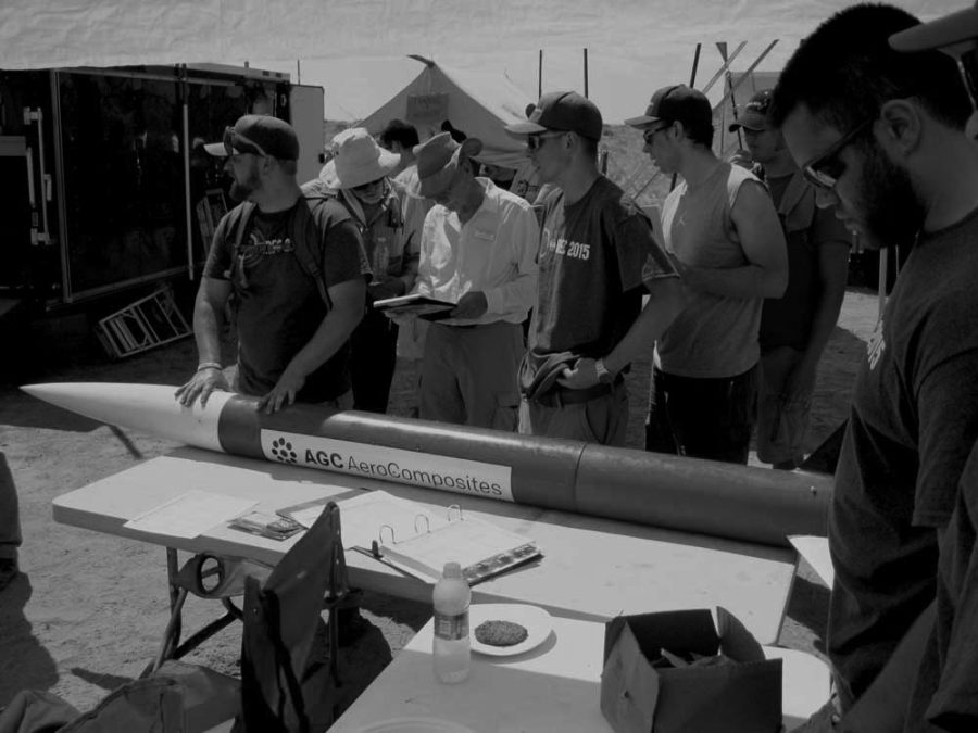 EWU+engineering+students+in+Brazil+for+a+rocket+competition.+The+group+won+third+place+last+year+in+a+international+collegiate+rocket+launch+competition+%7C+Photo+courtesy+of+EWU+Rocketry+Group