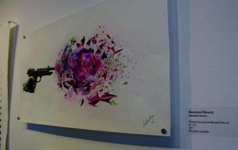Senior art students blossom